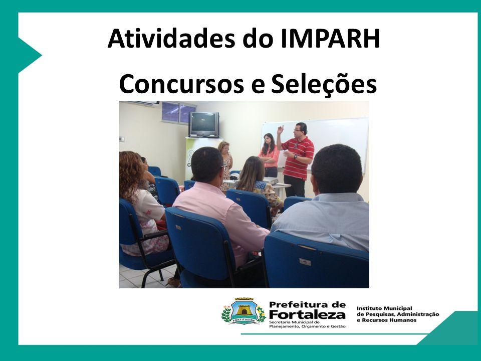 Atividades do IMPARH Concursos e Seleções