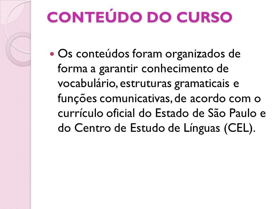 CONTEÚDO DO CURSO