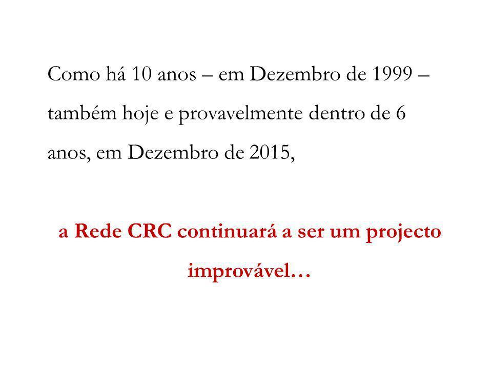 a Rede CRC continuará a ser um projecto improvável…