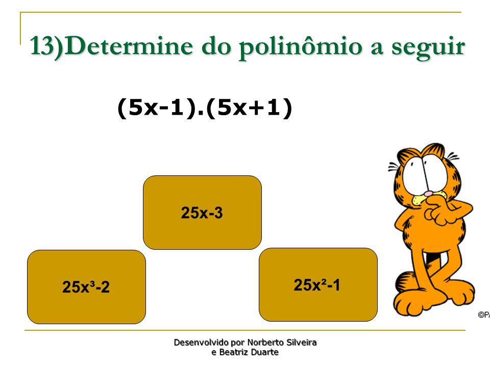 13)Determine do polinômio a seguir