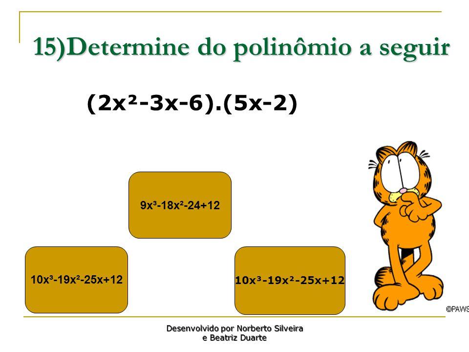 15)Determine do polinômio a seguir