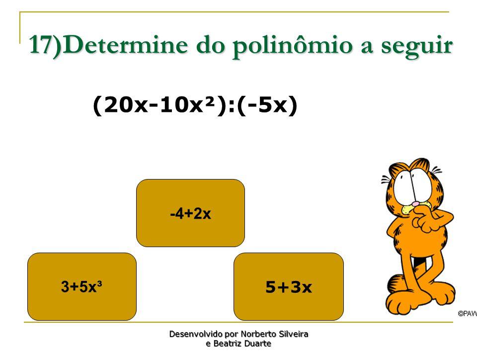 17)Determine do polinômio a seguir