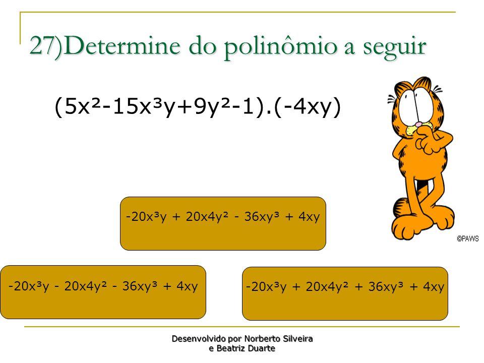 27)Determine do polinômio a seguir