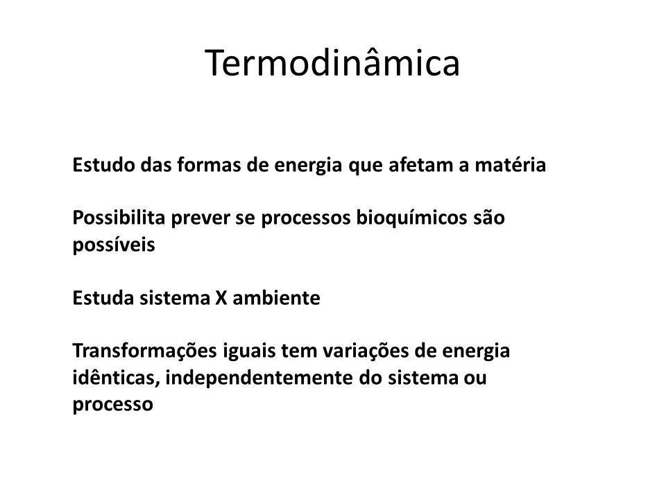 Termodinâmica Estudo das formas de energia que afetam a matéria