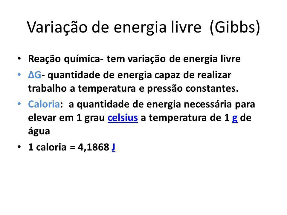 Variação de energia livre (Gibbs)
