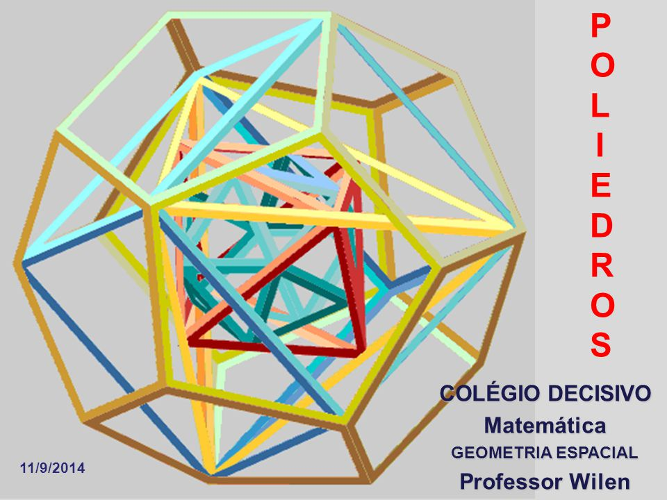 POLIEDROS COLÉGIO DECISIVO Matemática Professor Wilen