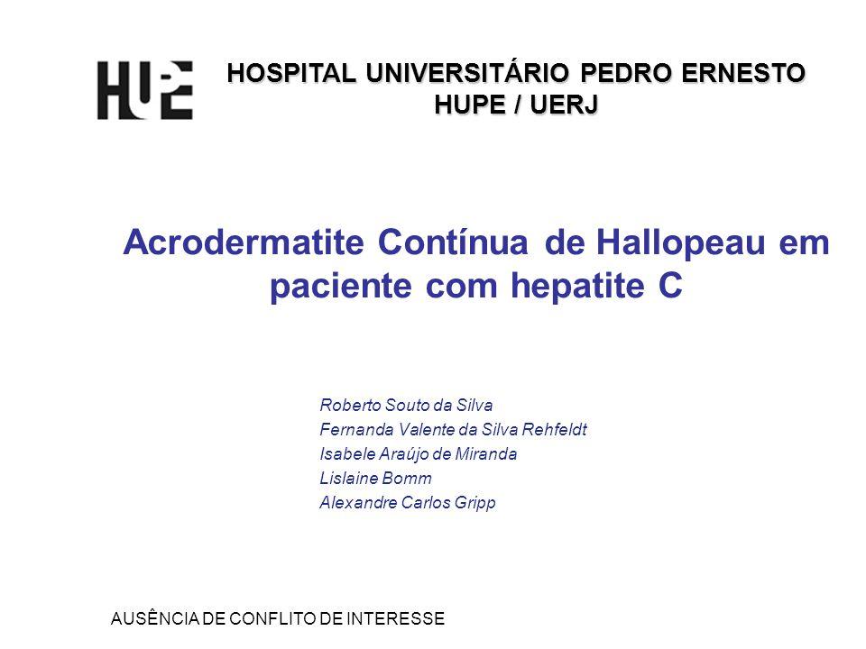 Acrodermatite Contínua de Hallopeau em paciente com hepatite C