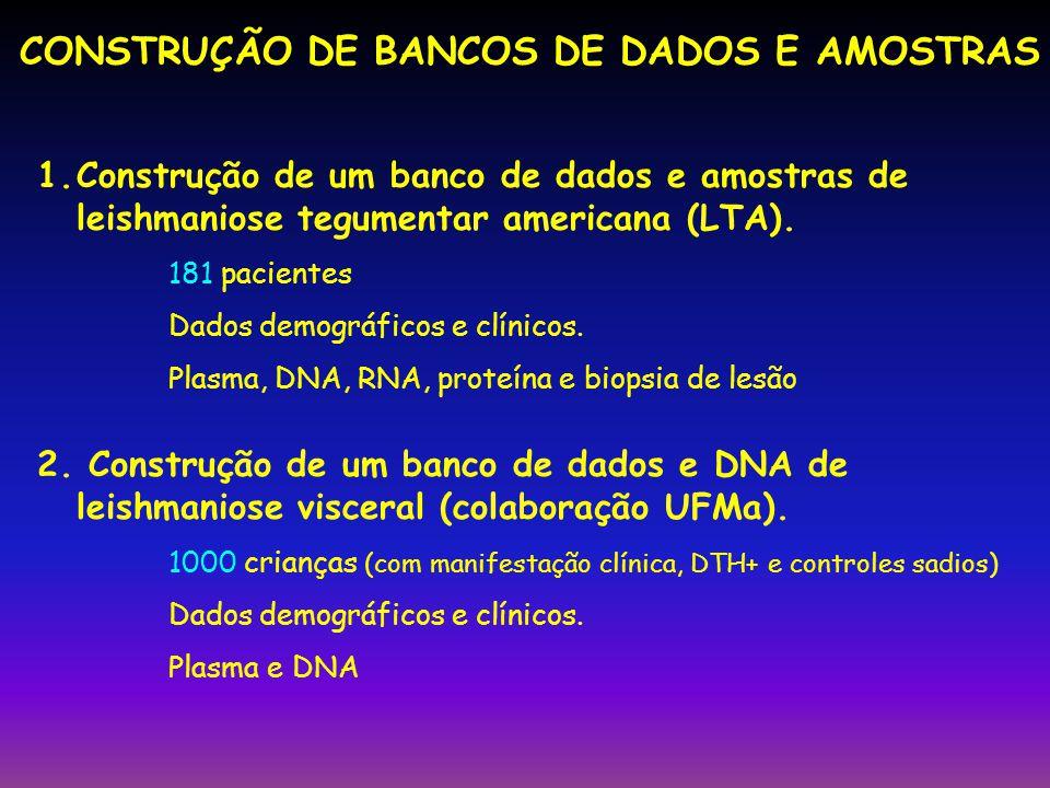 CONSTRUÇÃO DE BANCOS DE DADOS E AMOSTRAS
