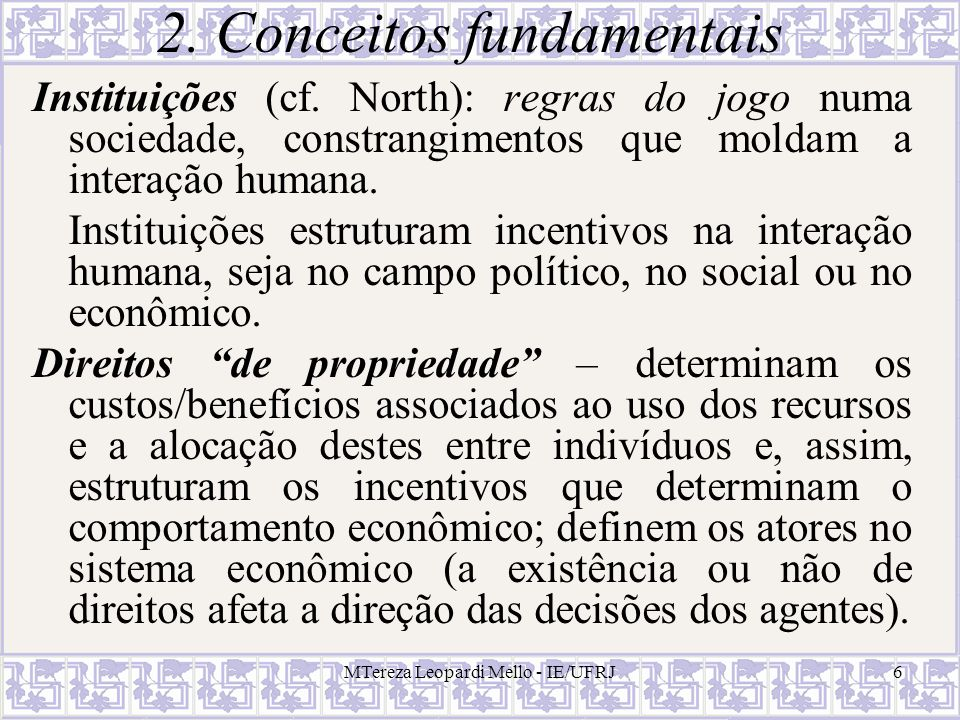 2. Conceitos fundamentais
