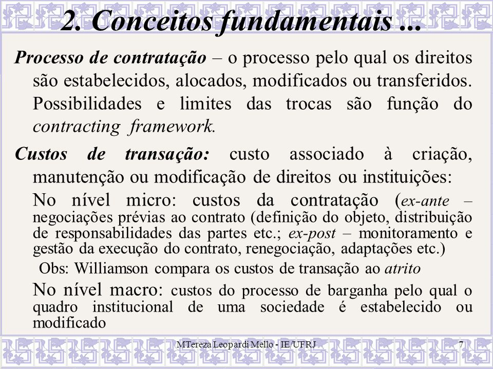 2. Conceitos fundamentais ...
