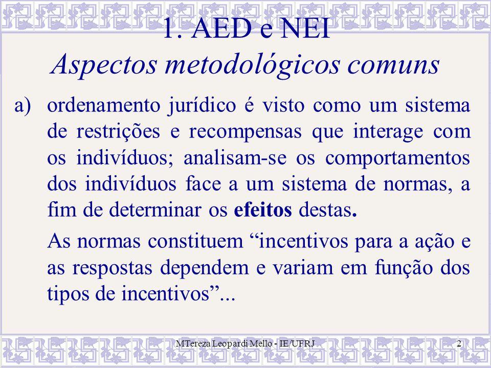 1. AED e NEI Aspectos metodológicos comuns