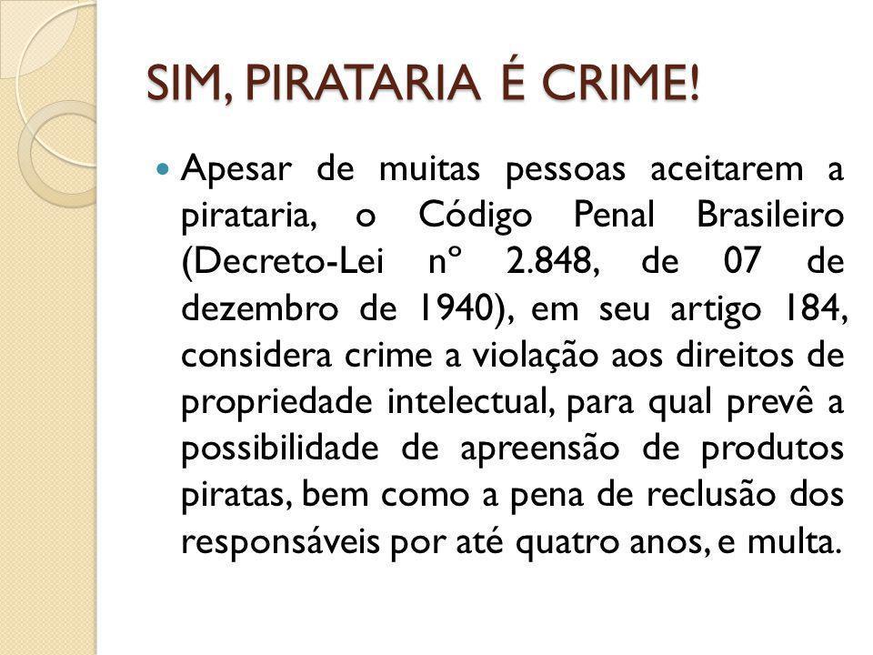 SIM, PIRATARIA É CRIME!