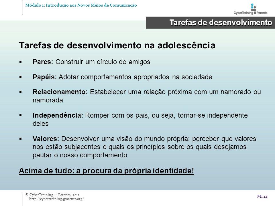 Tarefas de desenvolvimento na adolescência