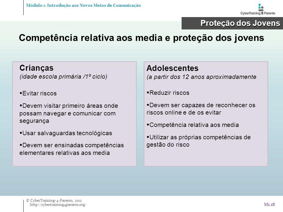 Competência relativa aos media e proteção dos jovens