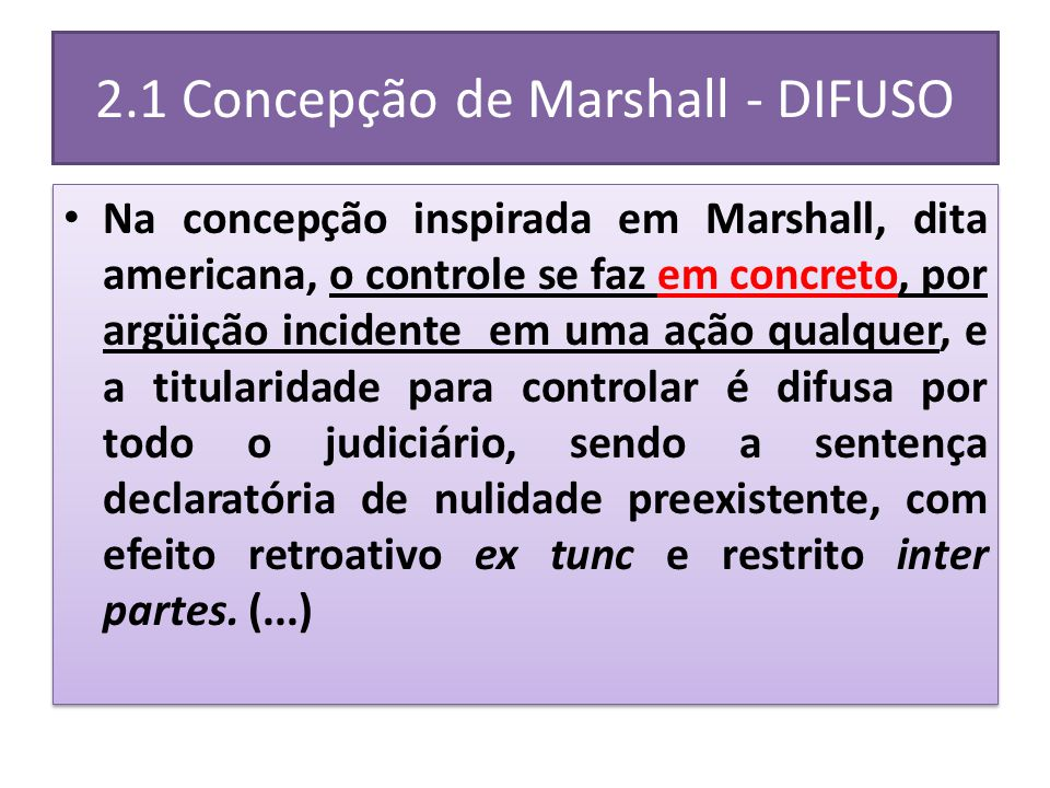 2.1 Concepção de Marshall - DIFUSO