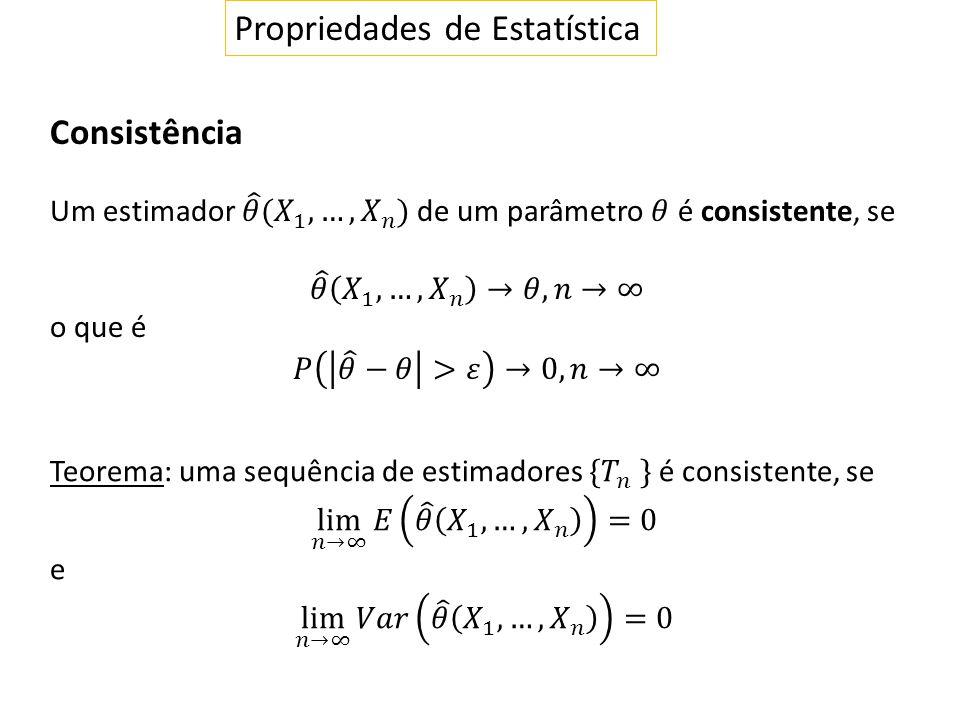 Propriedades de Estatística