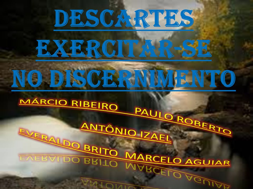 descartes exercitar-se no discernimento