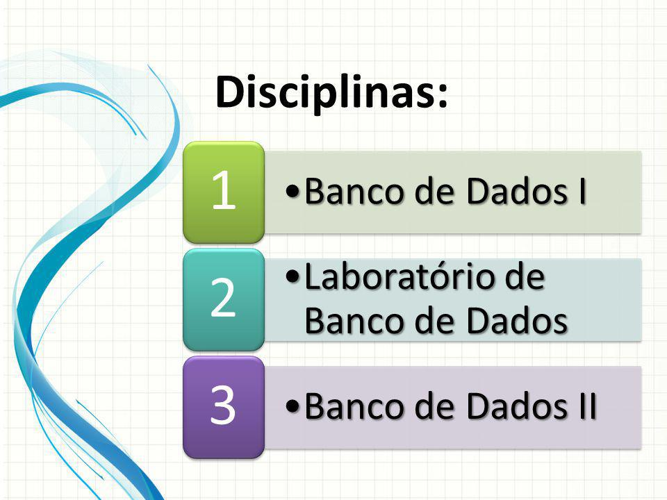 Disciplinas: Banco de Dados I Laboratório de Banco de Dados