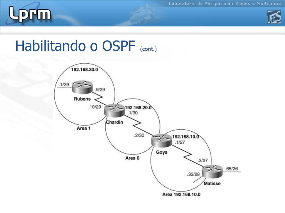 Habilitando o OSPF (cont.)
