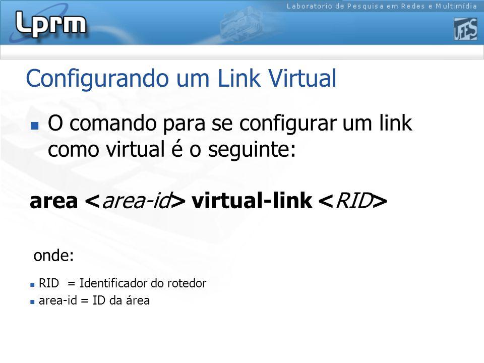 Configurando um Link Virtual