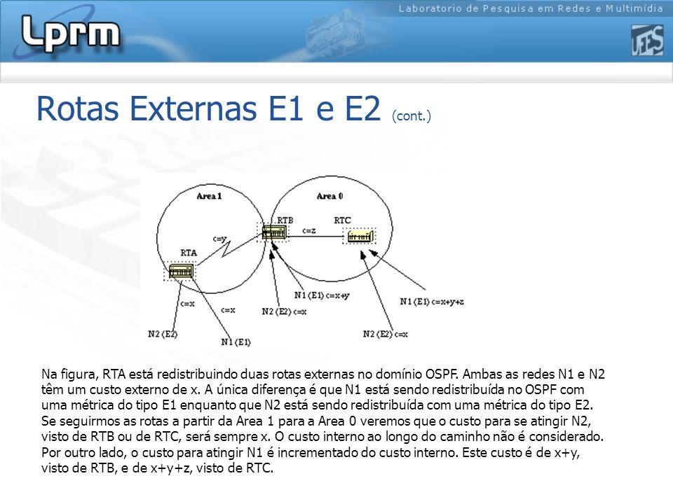 Rotas Externas E1 e E2 (cont.)