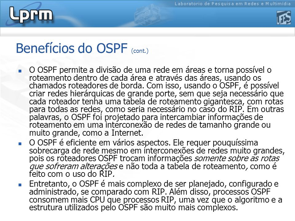 Benefícios do OSPF (cont.)