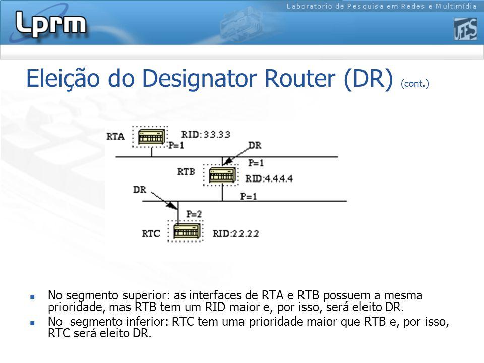 Eleição do Designator Router (DR) (cont.)