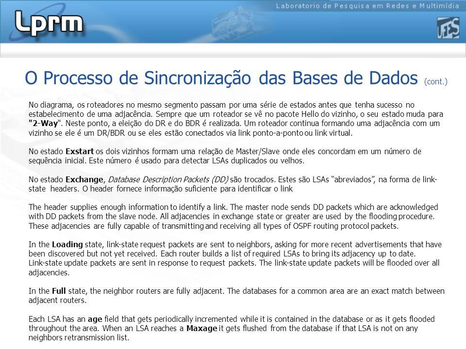 O Processo de Sincronização das Bases de Dados (cont.)
