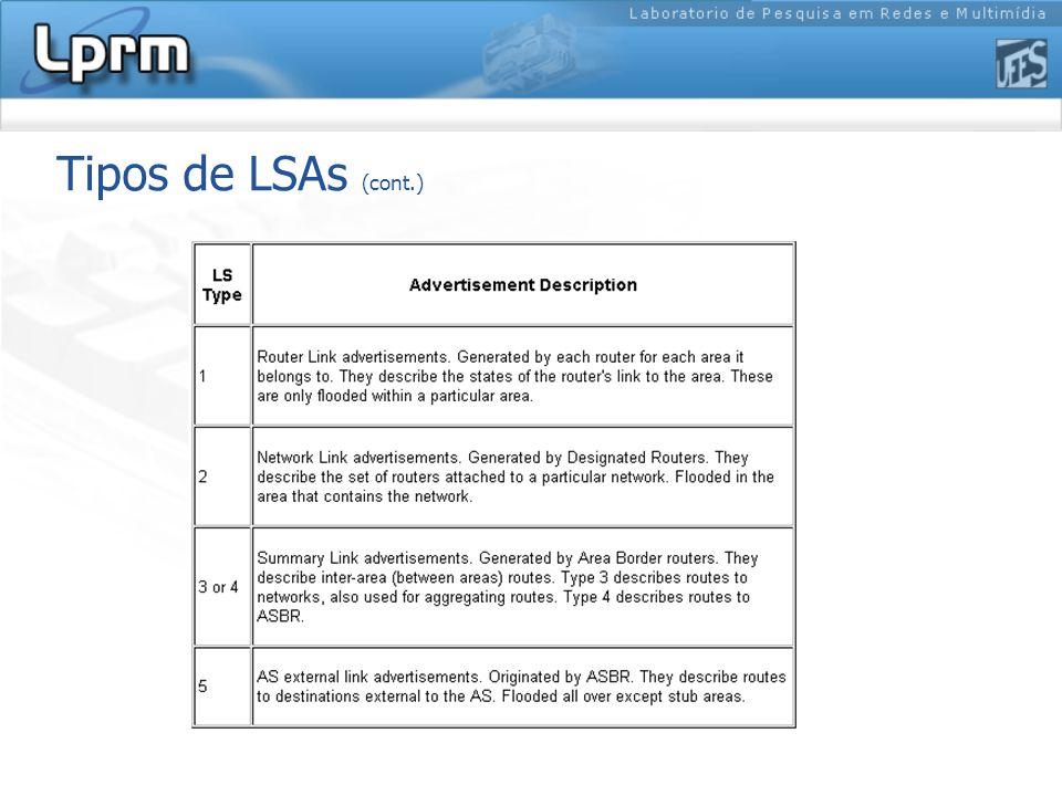 Tipos de LSAs (cont.)