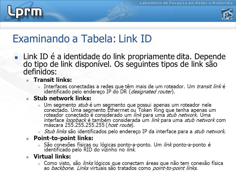 Examinando a Tabela: Link ID