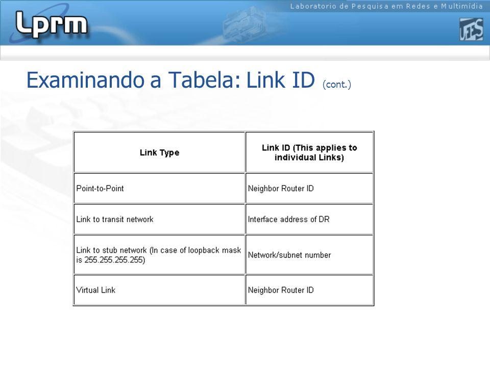 Examinando a Tabela: Link ID (cont.)