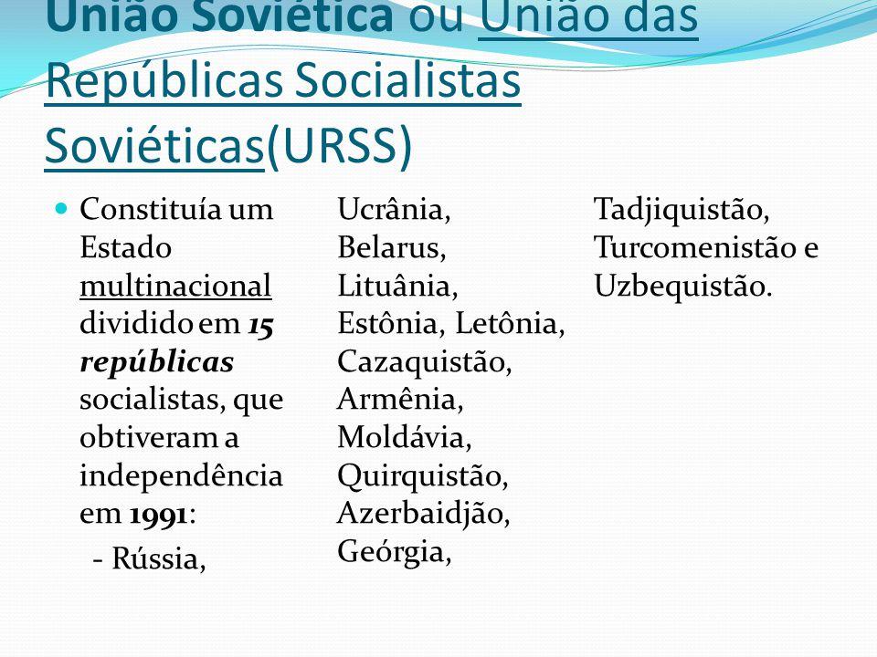 União Soviética ou União das Repúblicas Socialistas Soviéticas(URSS)