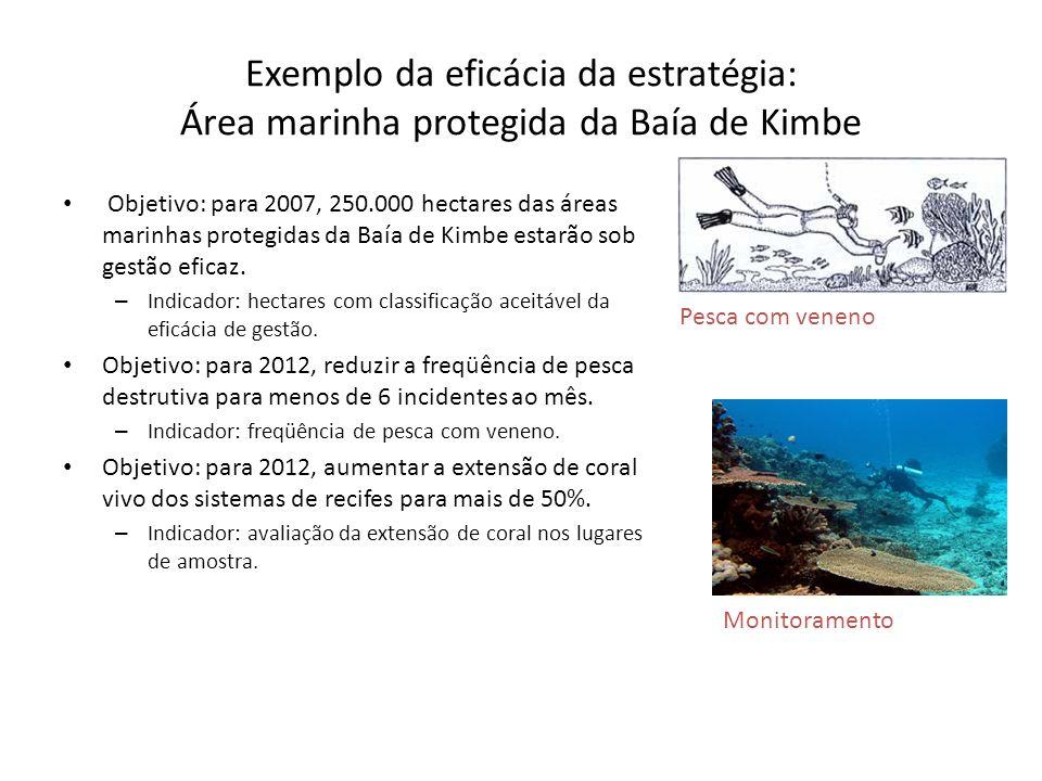 Exemplo da eficácia da estratégia: Área marinha protegida da Baía de Kimbe