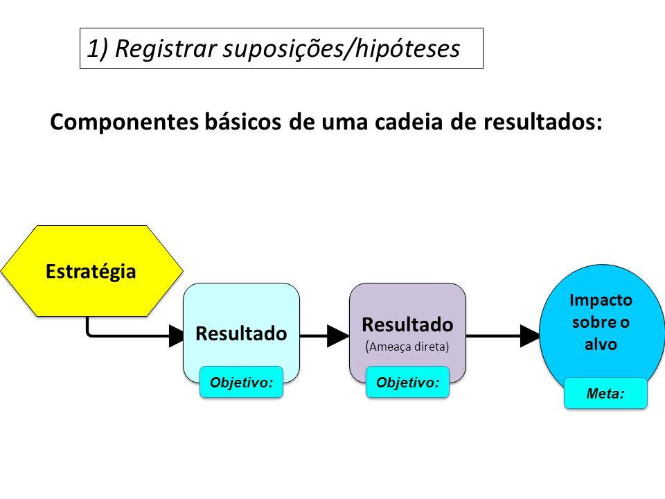 1) Registrar suposições/hipóteses