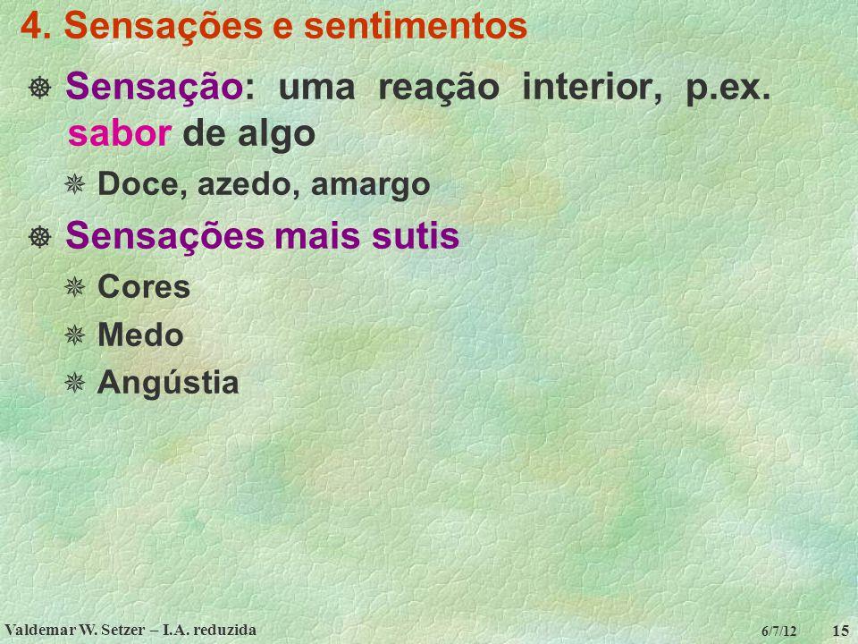 4. Sensações e sentimentos