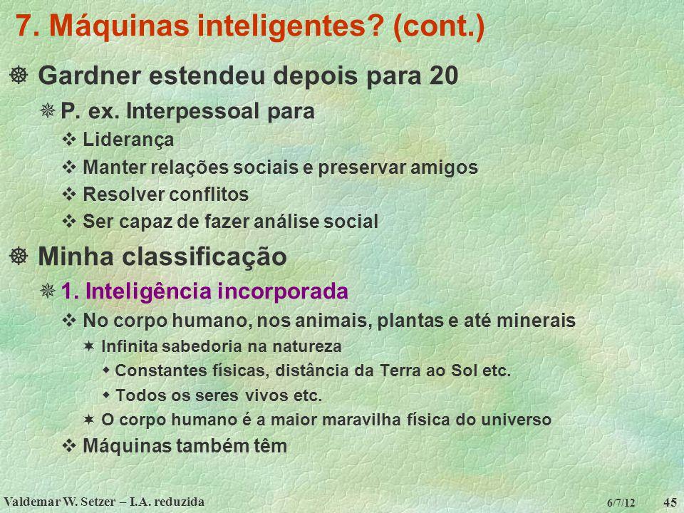 7. Máquinas inteligentes (cont.)