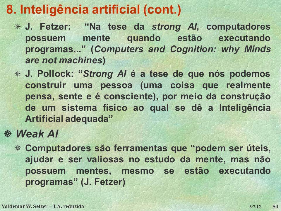 8. Inteligência artificial (cont.)