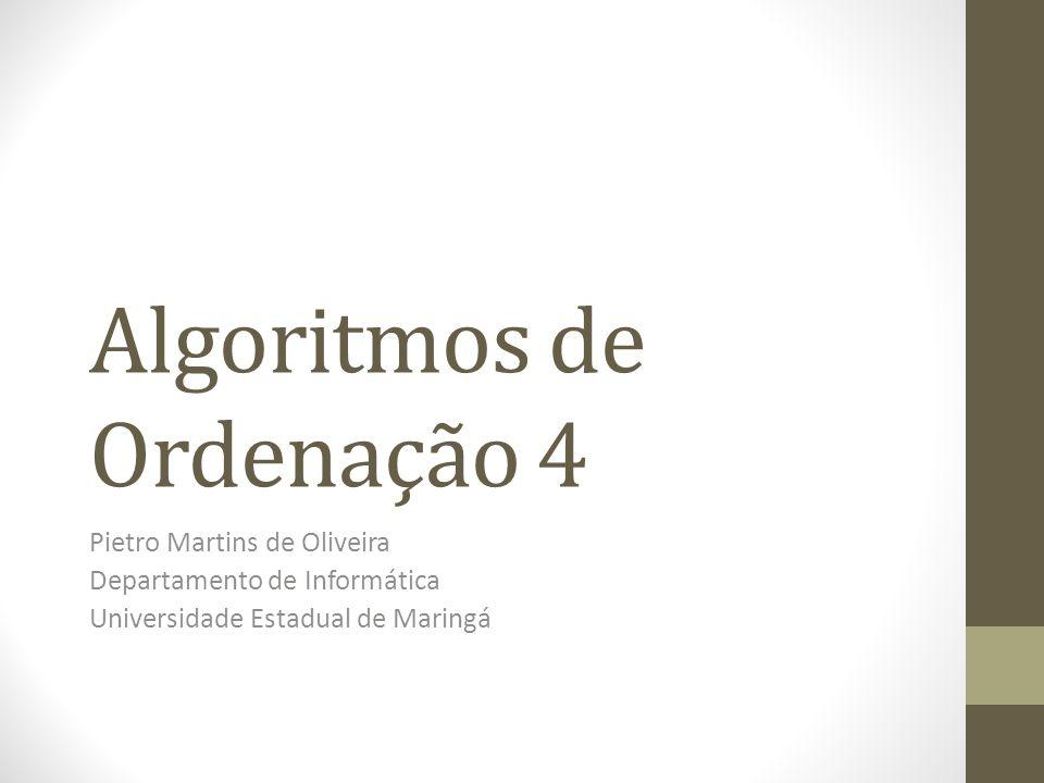 Algoritmos de Ordenação 4
