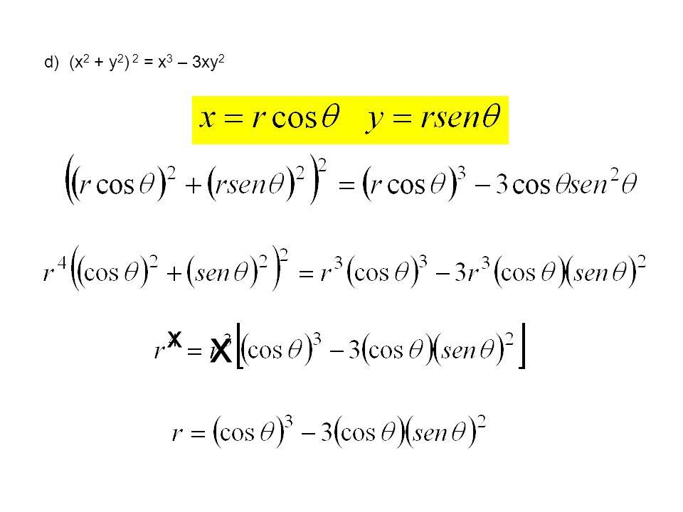 d) (x2 + y2) 2 = x3 – 3xy2 x x