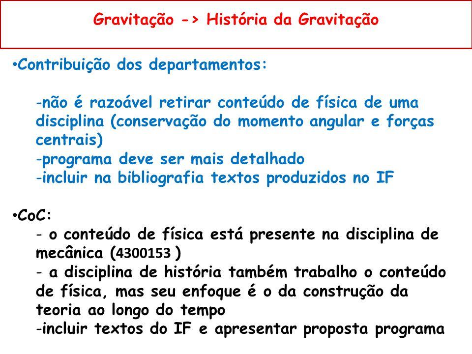 Gravitação -> História da Gravitação