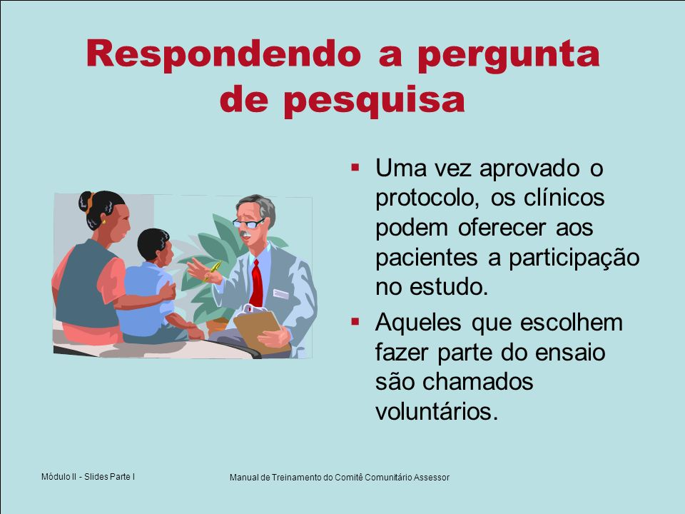 Manual de Treinamento do Comitê Comunitário Assessor