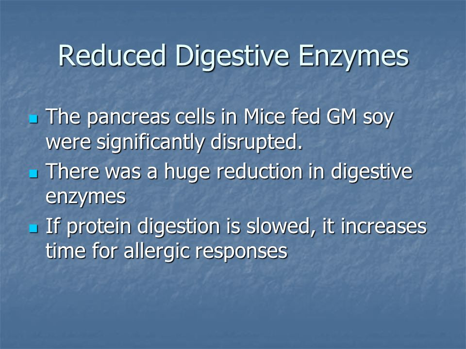 Reduced Digestive Enzymes