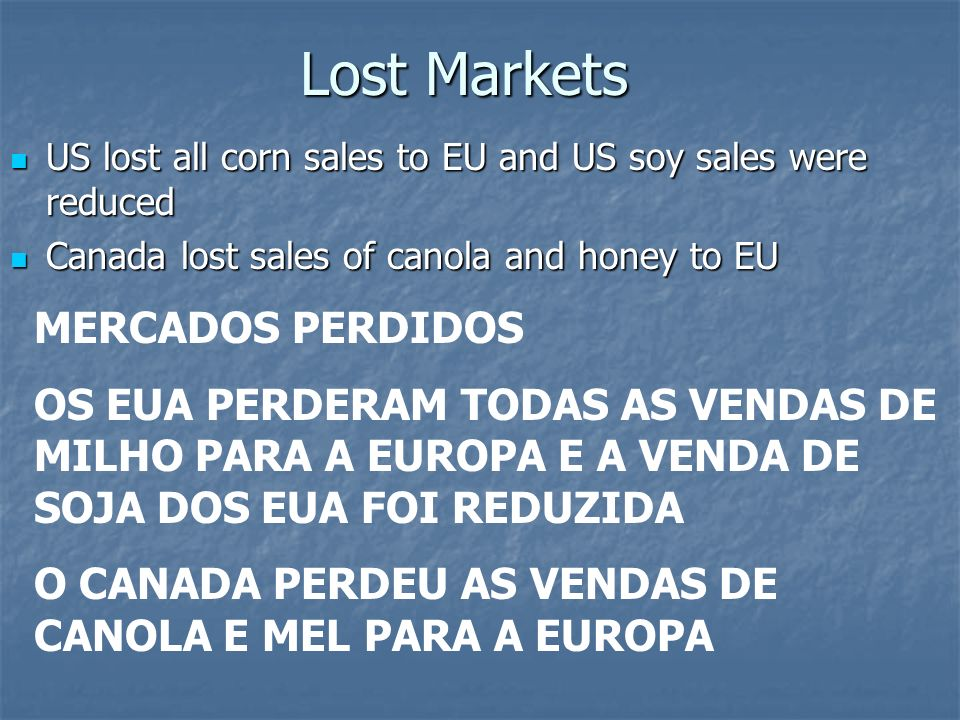 Lost Markets MERCADOS PERDIDOS