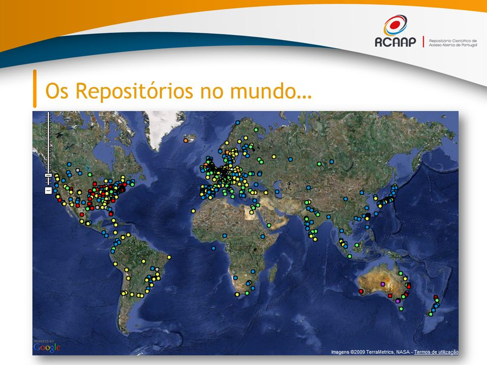Os Repositórios no mundo…