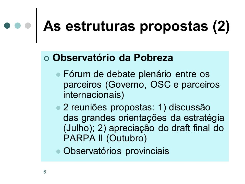 As estruturas propostas (2)
