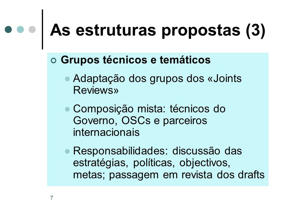 As estruturas propostas (3)