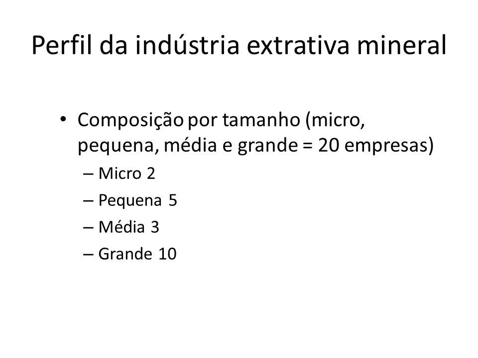 Perfil da indústria extrativa mineral