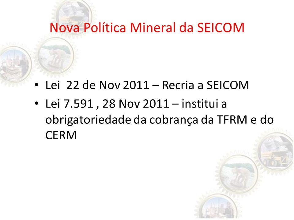 Nova Política Mineral da SEICOM