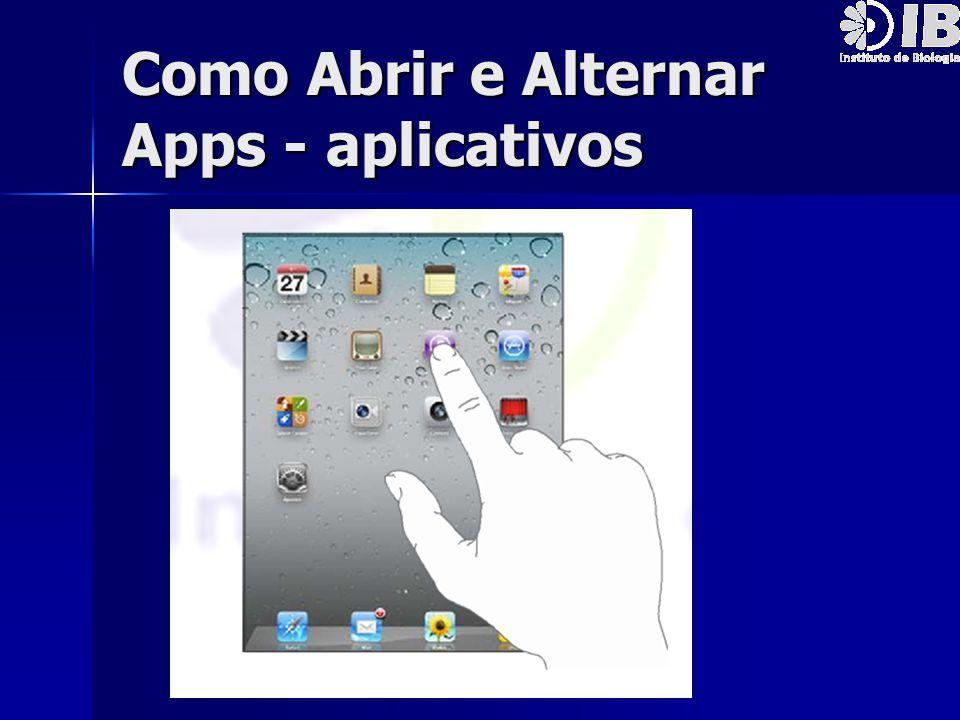 Como Abrir e Alternar Apps - aplicativos