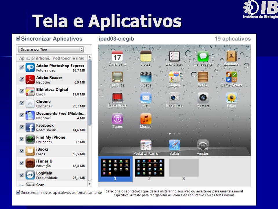 Tela e Aplicativos